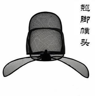 翘脚幞头/幞头:唐代帽子/汉服帽子/古装帽子/李白帽子