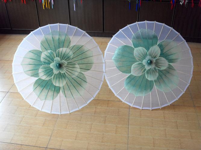 手绘透明丝伞