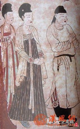 唐代女装间色裙