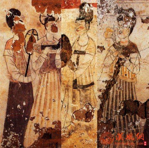 龙朔三年(663) 新城长公主墓壁画