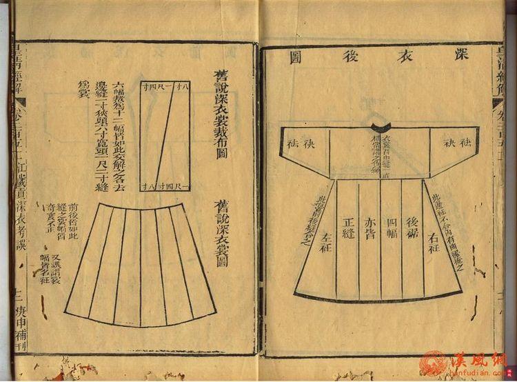 汉服深衣制作图纸图解