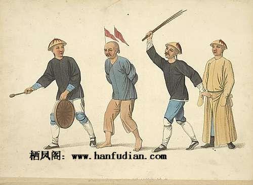 1825年西方传教士手绘图真实反映满清发型
