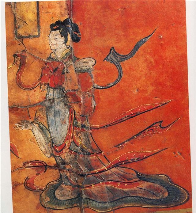 司马金龙墓屏风漆画中的形象