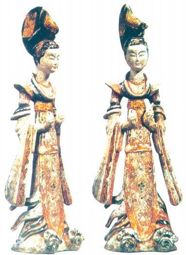 唐朝舞女的袿衣