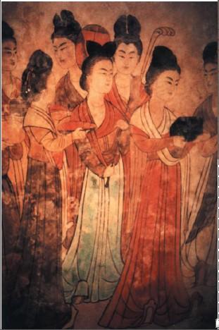 陕西乾县永泰公主墓壁画