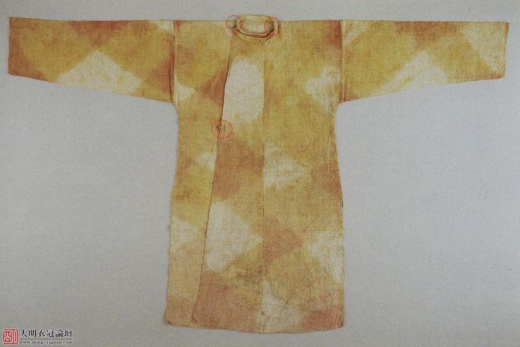 日本正仓院奈良朝藏上领袍(唐圆领袍)