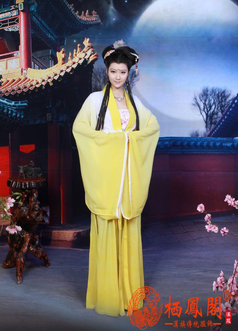 汉服襦裙民族演出服对襟襦裙