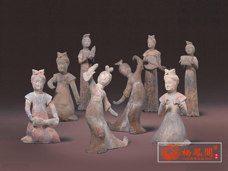 唐代舞蹈 | 陶彩绘女舞俑