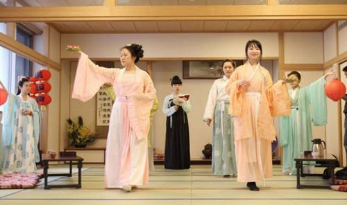 日本汉服会举办岁末雅集 展华夏礼仪之美